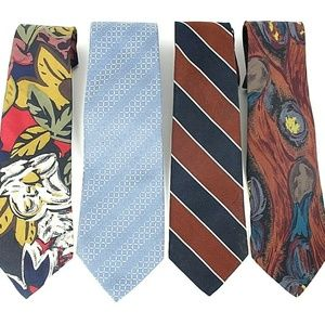 Lord & Taylor Men's Silk Ties Lot of 4 NWOT     51